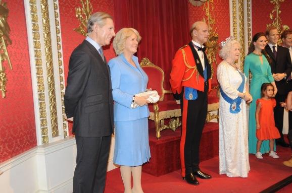 Madame Tussaud Família Real Inglesa